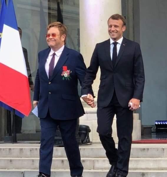 L'image du jour : Elton John – Emmanuel Macron